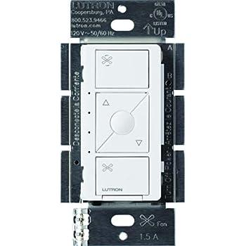 Lutron Pd Fsqn Wh Caseta Wireless Smart Fan Speed Control