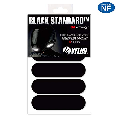VFLUO BLACK STANDARD. 4 retro reflective stickers