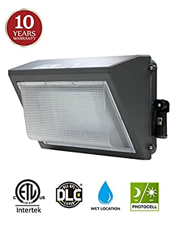 100W LED Wall Pack with Adjustable Dusk-to-dawn Photocell, 300-400W HPS/MH Replacement, IP65 Rated Waterproof Outdoor Commercial Lighting Fixture, 5000K 12500lm 10-year Warranty by Kadision