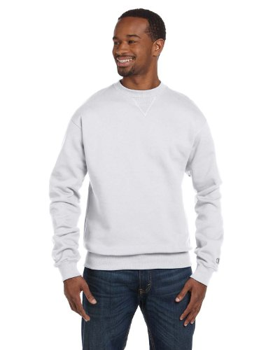 - Champion Men's Max Crewneck Full Athletic Fit Sweatshirt, silver gray, Large