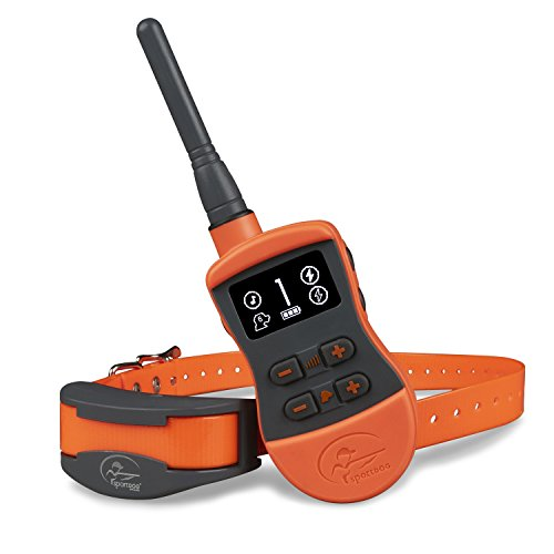 (SportDOG Brand SportTrainer Remote Trainers - Bright, Easy to Read OLED Screen - Up to 3/4 Mile Range - Waterproof, Rechargeable Dog Training Collar with Tone, Vibration, and)