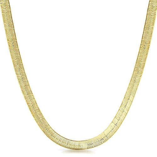 - XChains 14K Italy Gold Plated 3mm Herringbone Necklace 16