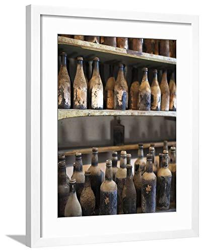 ArtEdge Antique Sherry Jars, Bodegas Gonzalez Byass, Jerez De La Frontera, Spain by Walter Bibikow, White Matted Wall Art Framed Print, 24 x 18 Soft