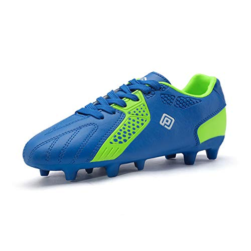 DREAM PAIRS Boys Girls HZ19006K Royal Blue Neon Green Soccer Shoes Size 6 M US Big Kid