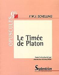 Le Timée de Platon par Friedrich Wilhelm Joseph von Schelling
