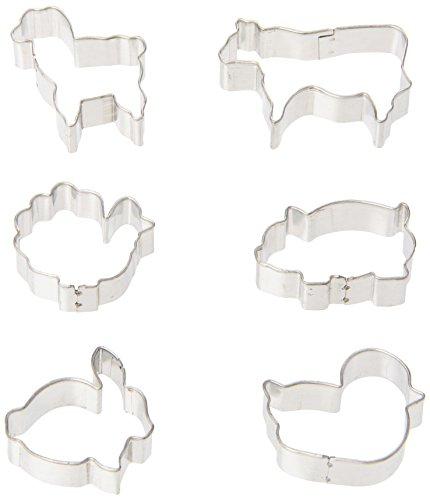0.75 x 1.5 x 1 inches Metallic Fox Run 3645 Mini Animal Cookie cutters