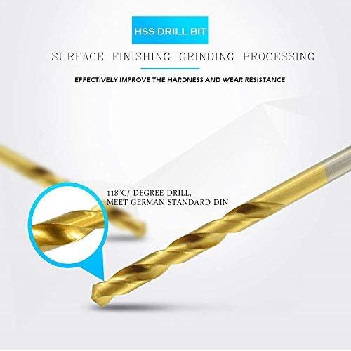 HYY-YY 99 Pcs HSS Titanium Coated Twist Drill Bits Set, Metric 1/16
