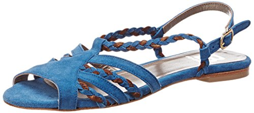 Bensimon Tressee, Sandales Bout Ouvert Femme Bleu (Bleu)