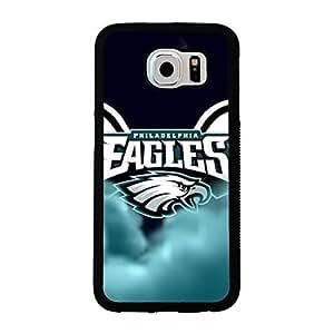 Samsung Galaxy S6 case Armor Philadelphia Eagles NFL Football Team Logo Team Logo Sports for Men Design Hard Plastic Snap on Accessories Protective Case Cover for Samsung Galaxy S6