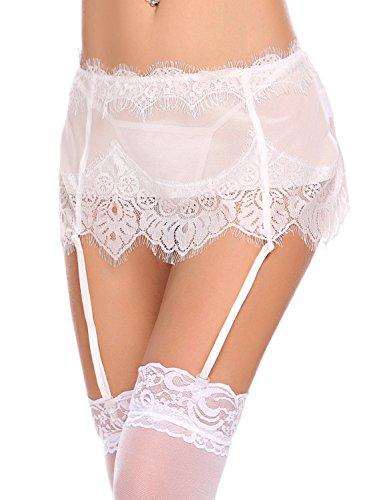 a682f3a78cf Avidlove Women Lingerie Sexy Lace Suspender Garter Belt 2 Piece Mesh Garter  Sets