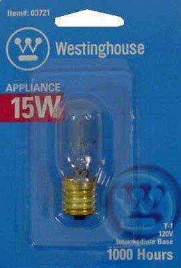 Clear Tubular Carded Light Bulb (Westinghouse Tubular Light Bulb 15 W 108 Lumens T7 Intermediate 2-1/8 In. Clear Carded)