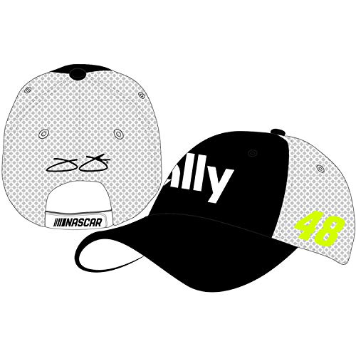 Checkered Flag Jimmie Johnson 2019 Ally Draft Mesh NASCAR Hat Black, White
