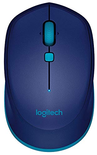 (Logitech M535 Bluetooth Mouse - Compact Wireless Mouse with 10 Month Battery Life Works with Any Bluetooth Enabled Computer, Laptop or Tablet Running Windows, Mac OS, Chrome or Android, Blue)