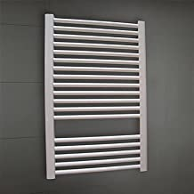 LI 550W Hydronic Low-Carbon Steel White Painting Wall Mount Square Pipe Towel Warmmer Drying Rack