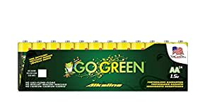 Perfpower Go Green AA Alkaline Batteries, 24 Count