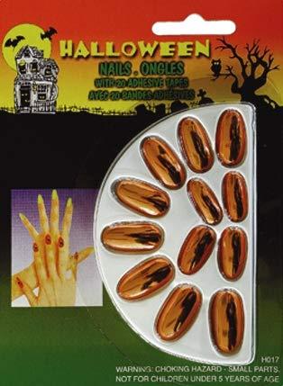 Wilbers Karnaval - Uñas postizas para disfraz| color bronce ...