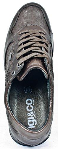 Igi&Co 87412, Chaussures à Lacets Marron Foncé, Homme (Homme 44EU)