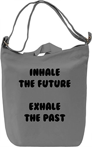Inhale and Exhale Borsa Giornaliera Canvas Canvas Day Bag| 100% Premium Cotton Canvas| DTG Printing|