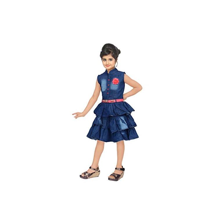 41AN3cOiu2L. SS768  - 4 YOU Girls' Knee Length Dress.
