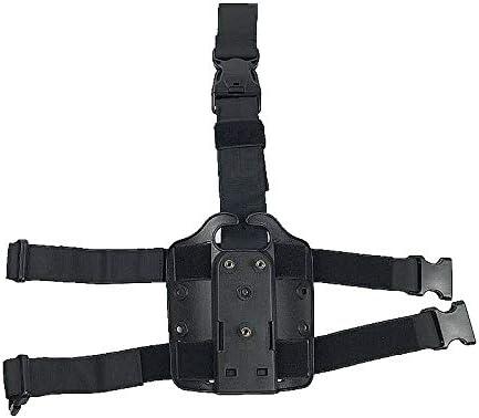 NO LOGO L-Yune, Tactical Drop Leg Holster Platform Hard Plastic Polymer Boomstick Holsters for Gl17 M9 M92 P229 CZ83 M2000 Hunting Gun Airsoft Black