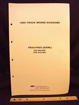 1989 ford f600, f700, \u0026 f800 series cowl truck electrical ford ignition switch wiring diagram 88 ford f600 wiring diagram wiring
