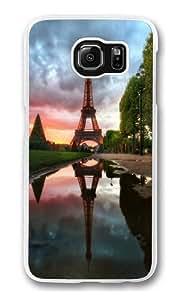 Eiffel Tower Reflection Custom Samsung Galaxy S6/Samsung S6 Case Cover Polycarbonate Transparent wangjiang maoyi