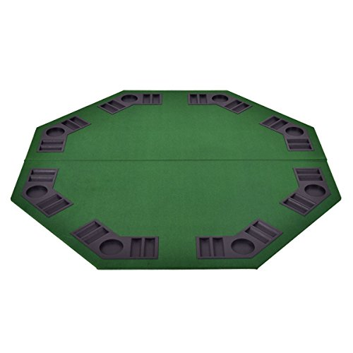 48'' 8 Players Octagon Foldable Poker Table Top by Apontus