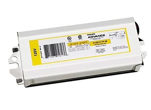 1- ADVANCE / PHILIPS H-1B13-TP-W PRE-HEAT BALLASTS 120V H1B13TPW FOR (1) 13W, CFL, 2-PIN CFT13W/GX23 or CFQ13W/GX23 Lamp