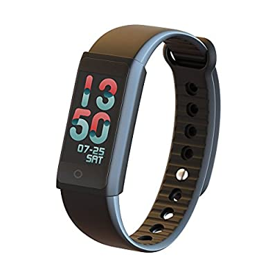 ?Today 50% Off?Colorful Fitness Tracker Smart Bracelet With Heart Rate Monitor/Blood Pressure Oxygen/Sleep Monitor/Call Notification Push/Step Tracker Monitor/Calorie Counter for Android iOS