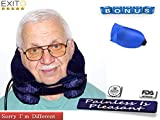 2018 New Cervical Neck Traction Collar for Men and Women,FDA Registered,Effective Neck Pain Remedy at Home, Extra Bonus Eye Mask -Brace for Home use