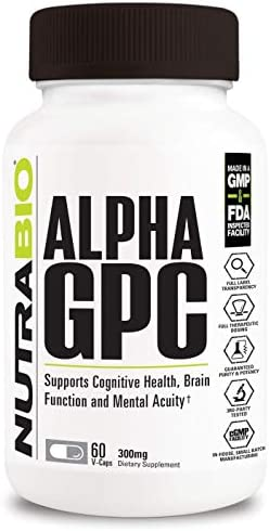NutraBio Alpha 300mg Vegetable Capsules