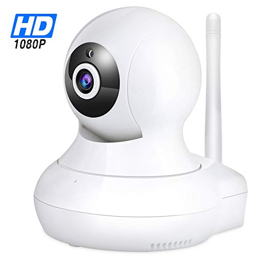 WiFi IP Camera 1080P – TENVIS Wi-Fi IP Security Camera Surveillance Camera System Wireless HD 1080p Security Cam Home Dome Baby Elder Pet Nanny Monitor with Pan/Tilt Two-Way Audio/Night Vision