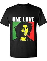 Bob Marley One Love Graphic T Shirts Rasta Reggae Legend