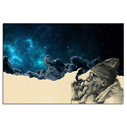 Toopia HD Print 1 Piece Framed Canvas Art Smoke and Wonder Painting Wall Art Picture Home Decoration Framework (16x24inchx1pc) ()
