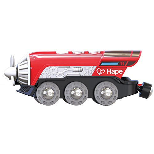 Hape Kids Wooden Railway Propeller Steam Engine ()