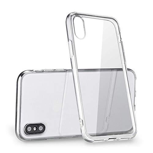 Speira iPhone X Clear TPU Case, [Anti-Discoloration] [Slim] (Crystal Clear) (Clear)