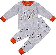 Little Boys Pajamas Sets 100% Cotton Clothes Toddler Kids 2-7 Years Pjs Sleepwear