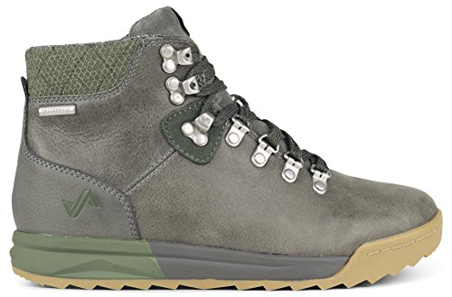 Forsake Patch - Women's Waterproof Premium Leather Hiking Boot (6, Grey/Cypress) Classic Hiking Trail Seeker