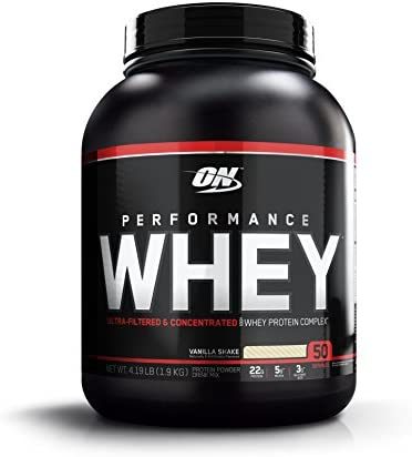 OPTIMUM NUTRITION Performance Whey Protein Powder, Whey Protein Concentrate, Whey Protein Isolate, Hydrolyzed Whey Protein Isolate, Flavor Vanilla, 50 Servings