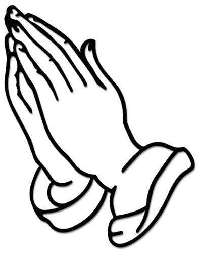 - Praying Hands Sign Symbol Vinyl Decal Sticker For Vehicle Car Truck Window Bumper Wall Decor - [12 inch/30 cm Wide] - Matte BLACK Color