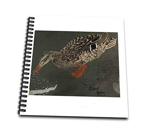 3dRose CherylsArt Wild Animals Duck - Painting of a Female Duck Eating Corn off the Ground - Mini Notepad 4 x 4 inch (db_311429_3)