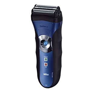 Braun Series 3-340 Wet and Dry Shaver (Blue)