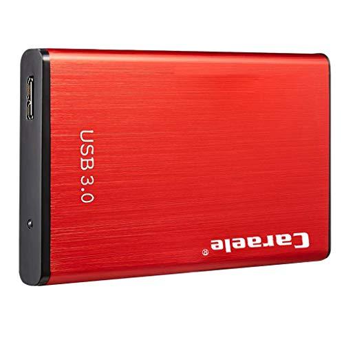 Homyl 2TB Portable External Hard Drive USB 3.0 for Laptop/Desktop/Xbox one/PS4/Wii U/Chromebook, Red (Best External Hard Drive Wii U)