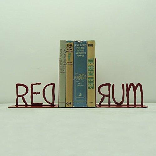 REDRUM Metal Art Bookends by Frog Studio Home