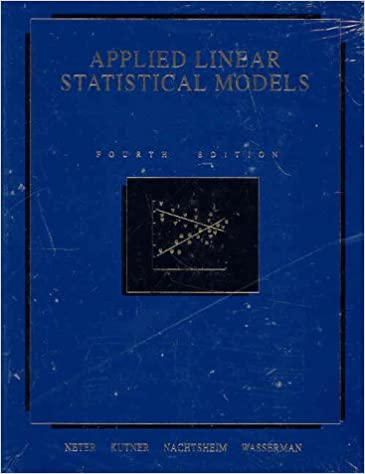 Applied Linear Statistical Models 5th Edition Pdf