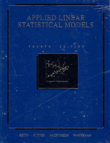 linear statistical models - 7