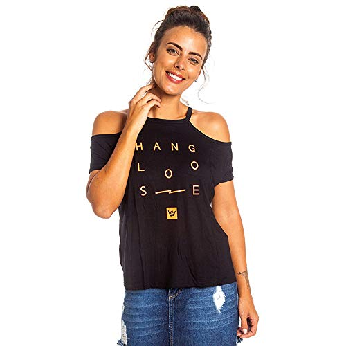 Camiseta Sun Off Hang Loose Preto - G
