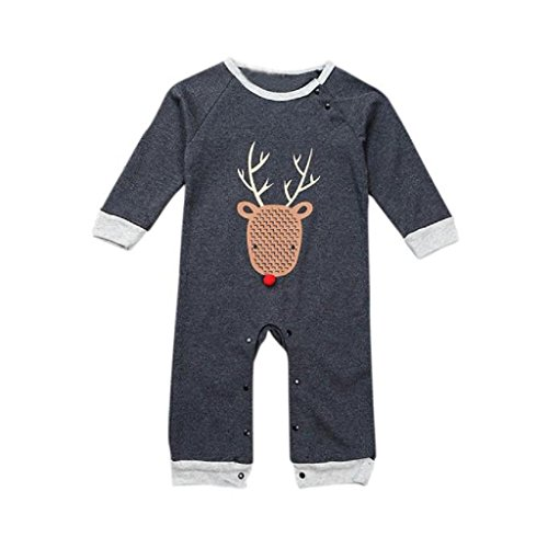 2016 Baby Boys Girls Elk Romper - SUPPION Christmas Jumpsuit Bodysuit Clothes Outfits (9M) (Boys Halloween Clothes)