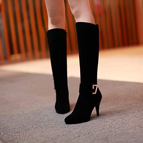 KPHY Damenschuhe Hohe Fass Aber Das Knie Stiefel cm Absatz 9 cm Stiefel Hohen Dünnen Bei 100 Sätze Geringe Größe Knie Und Stiefel b16de3