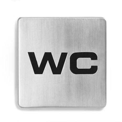 Blomus 68206 Signo - Cartel para puerta con mensaje WC ...